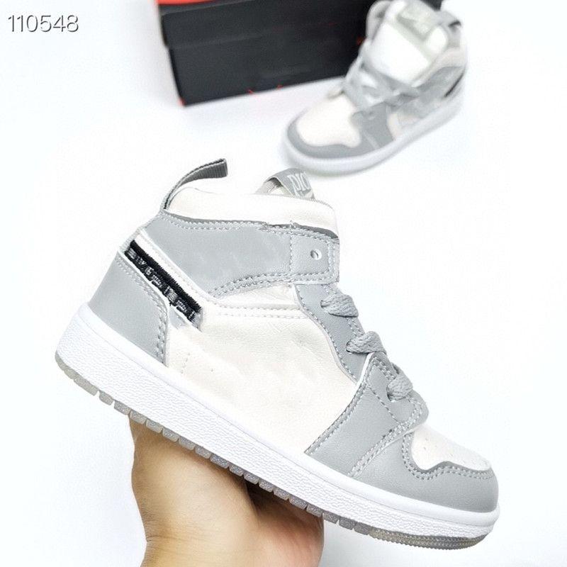 Zapatillas infantiles OG JAM 1S Zapatos de baloncesto para niños Criados Barred Toddlers Newn Baby Trainers Kids Boy Chica Sneaker Niños Tamaño24-35