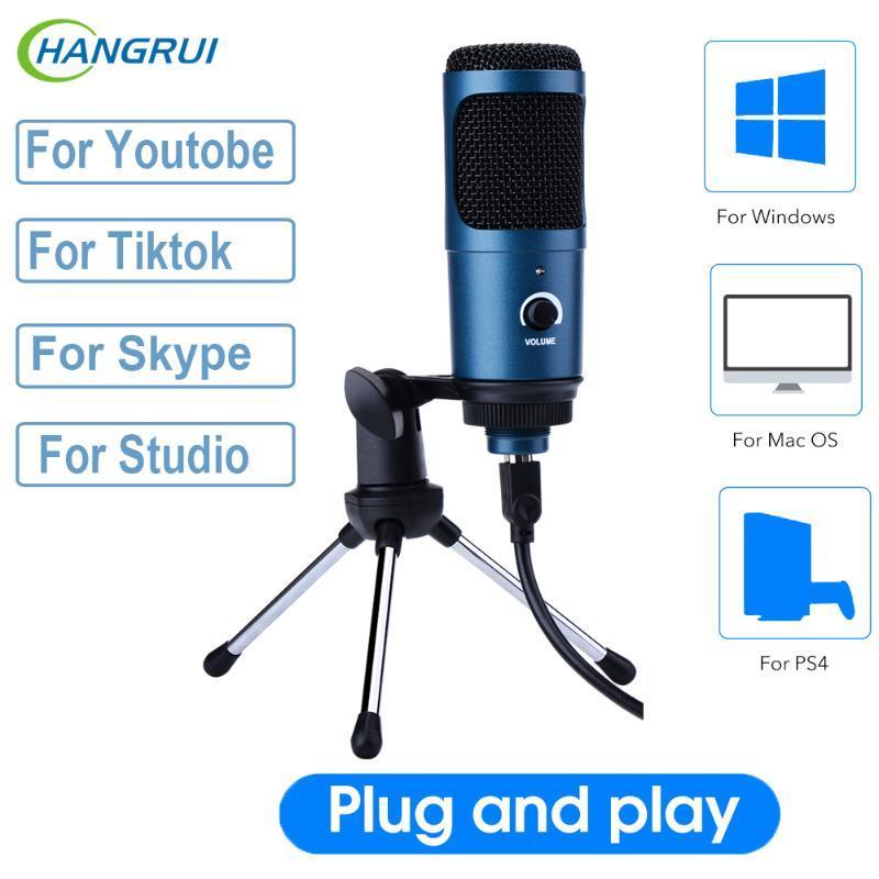 USB Kayıt Kondenser Mikrofon Profesyonel Stüdyo Mikrofon Karaoke Mikrofono Youtobe Tik Tok PC Bilgisayar Dizüstü Mikrofon