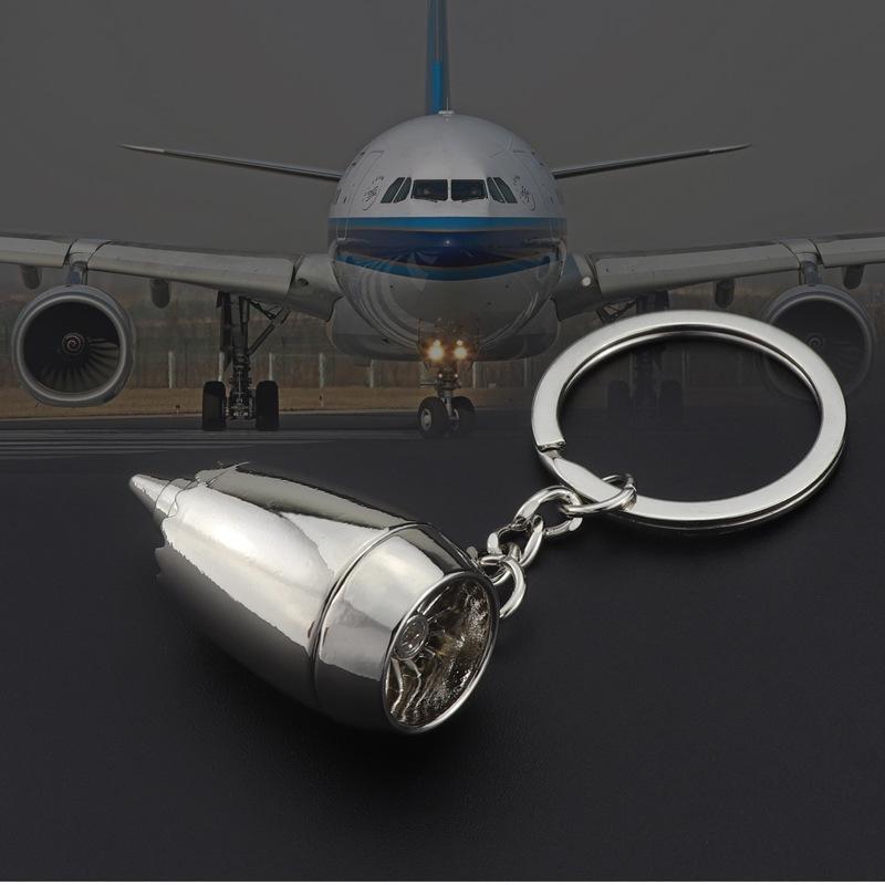 MKENDN nuovo metallo di disegno Motore piano Portachiavi Mini Jet Engine Portachiavi LOGO regalo personalizzato
