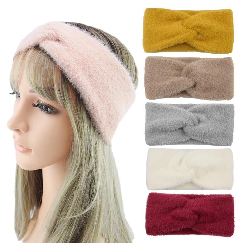 2020 Mulheres Headband Cruz Top Knot Elastic Hairbands Sólido cor quente acessórios velo Hairband torcida Headwrap cabelo