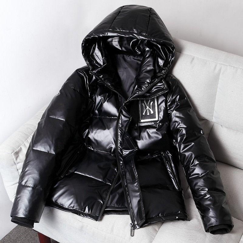 New coreano ispessito incappucciato caldo giacca corta brillante Giù uomo in inverno del 2020