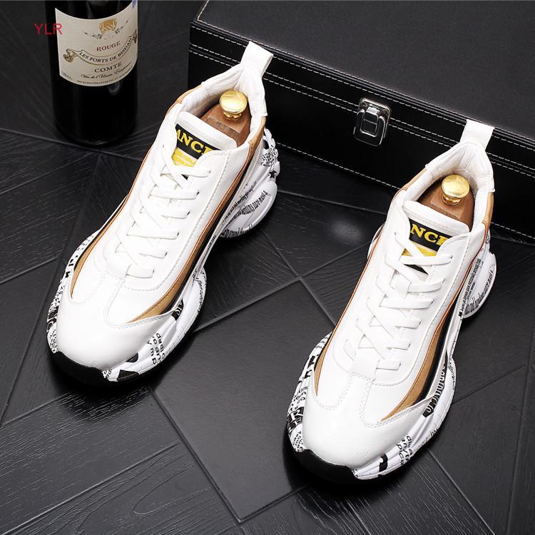 confortevoli appartamenti casuali scarpe stringate Maschio designer prom 2020 il nuovo modo degli uomini dei pattini della piattaforma del vestito fannulloni Clunky Sneaker