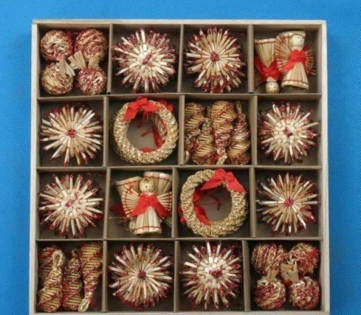 شجرة الحلي مجموعة القمح القش المنسوجة مهرجان الديكور زينة عيد الميلاد للبيع على الانترنت عيد الميلاد الديكور ZGOX # BBYLKQM
