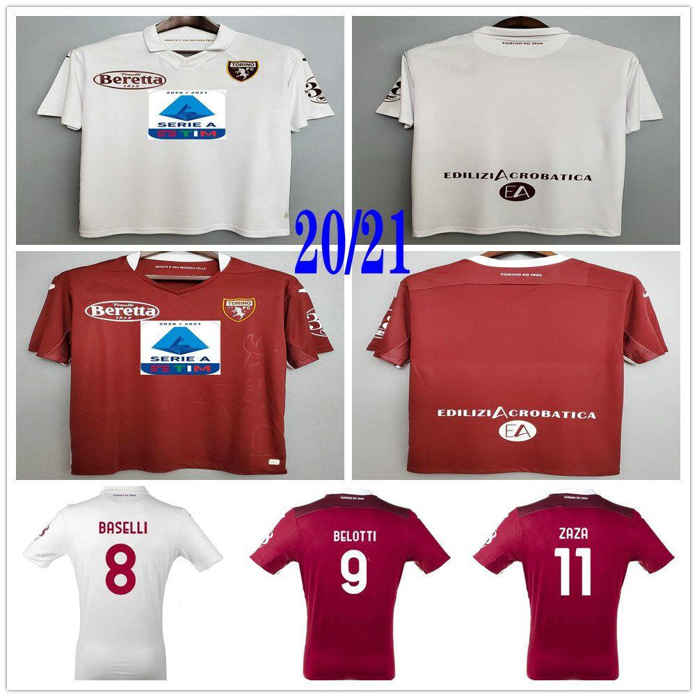 2020 2021 Torino FC Soccer Jerseys maglia da calcio BELOTTI FALQUE IZZO NKOULOU ZAZA BASELLI custom home away maillot de football Shirts