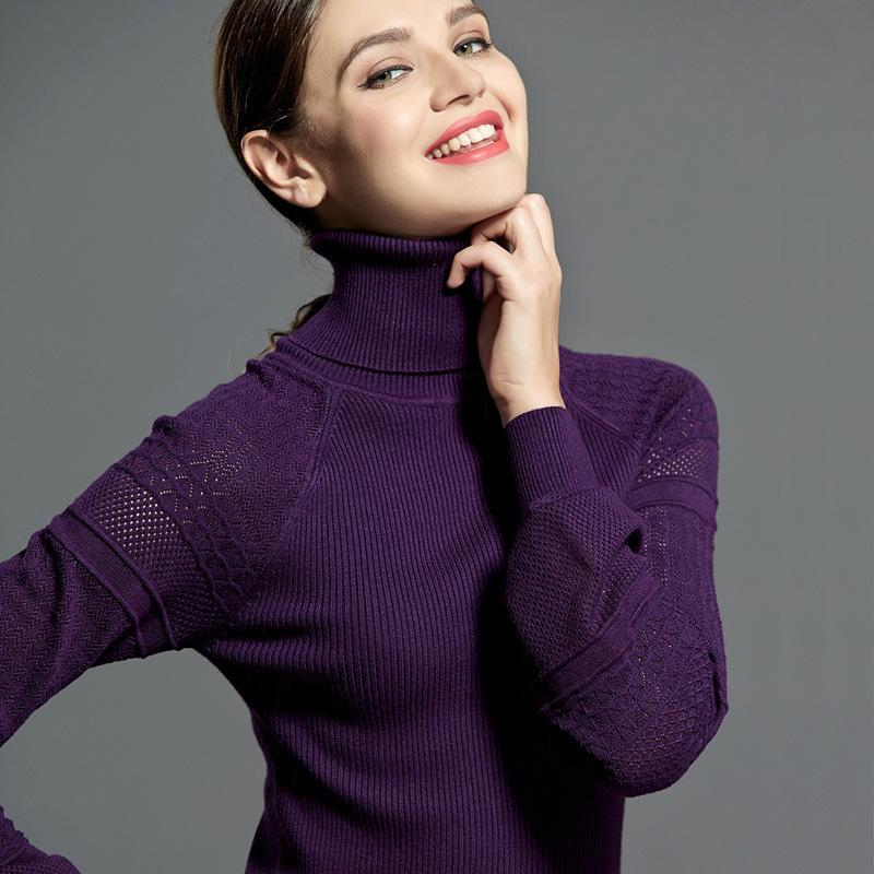 Новая зимняя и осень епископ рукав пуловеры женские тулетленовые свитер