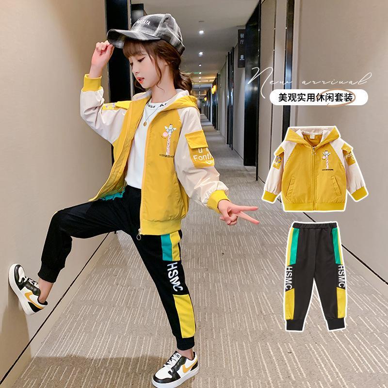 Childrenswear Automne Nouveaux produits 2020 Fille's Costume Automne Western Style dessin animé pour enfants FATX1019