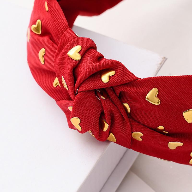 Корейская Золотая Звезда Свиновая Доска Мода Темперамент Pure Color Ткань ручной работы Средний Узел Головной убор GZI2