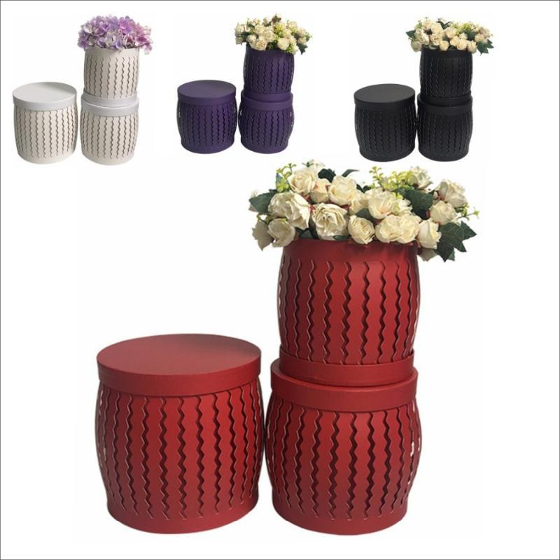 2020 Nouveaux 3PCS design / Ecrin de jour de creux valentine, décoration fête mariage boîte fleuriste fleurs, faveurs cadeaux pour gusests