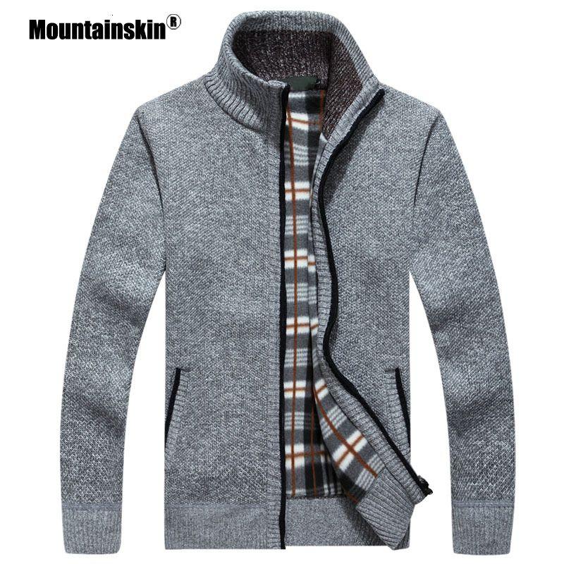 Mountainskin New Pulls Homme Automne Hiver chaud Pull Cardigan épais Manteaux Hommes Marque Vêtements Homme Tricots Casual Sa582