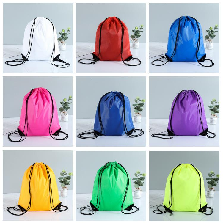 drawstring tote bags Drawstring Backpack folding creative promotion gift shopping bags mixed color sent EWC4037