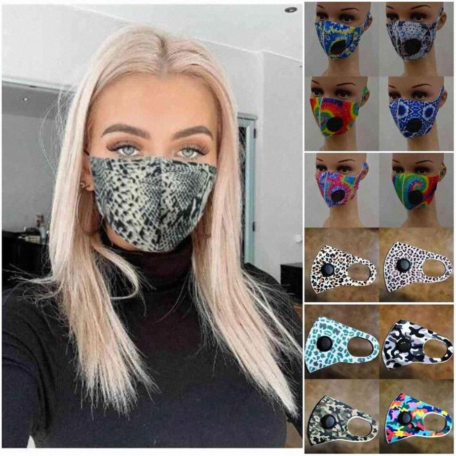 Adult Ice Silk Face Mask With Value Washable Protective Floral Printing Mask Breathable Anti Dust Polyester Masks DDA289 g6sq#