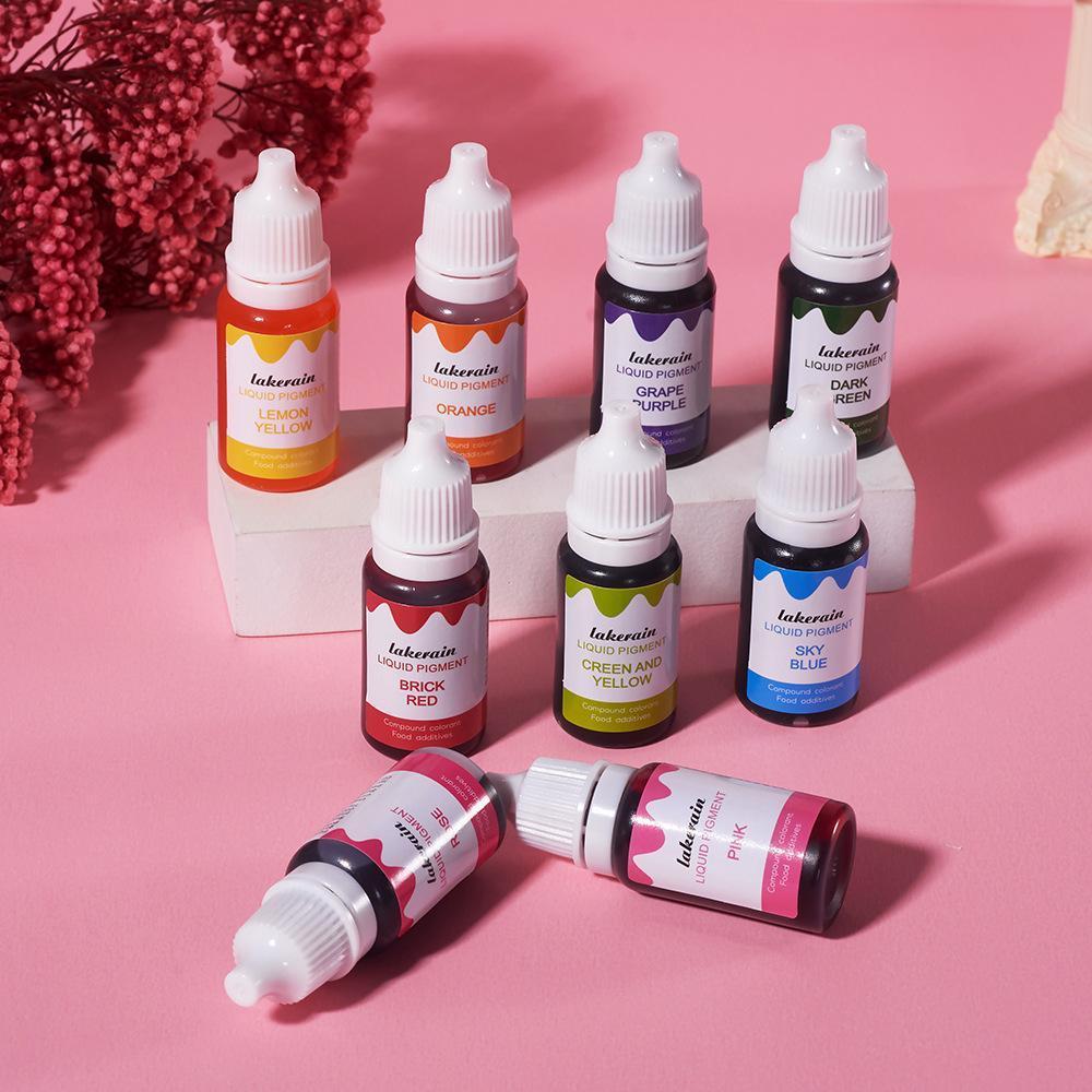 VMAE 10ML DIY LIP LÍQUIDO LÍQUIDO Dante Soap Fazendo Colorir Colorentes Comestíveis Para O óleo de Água de Plasticine Dual Use 24 Cores 1 PCs