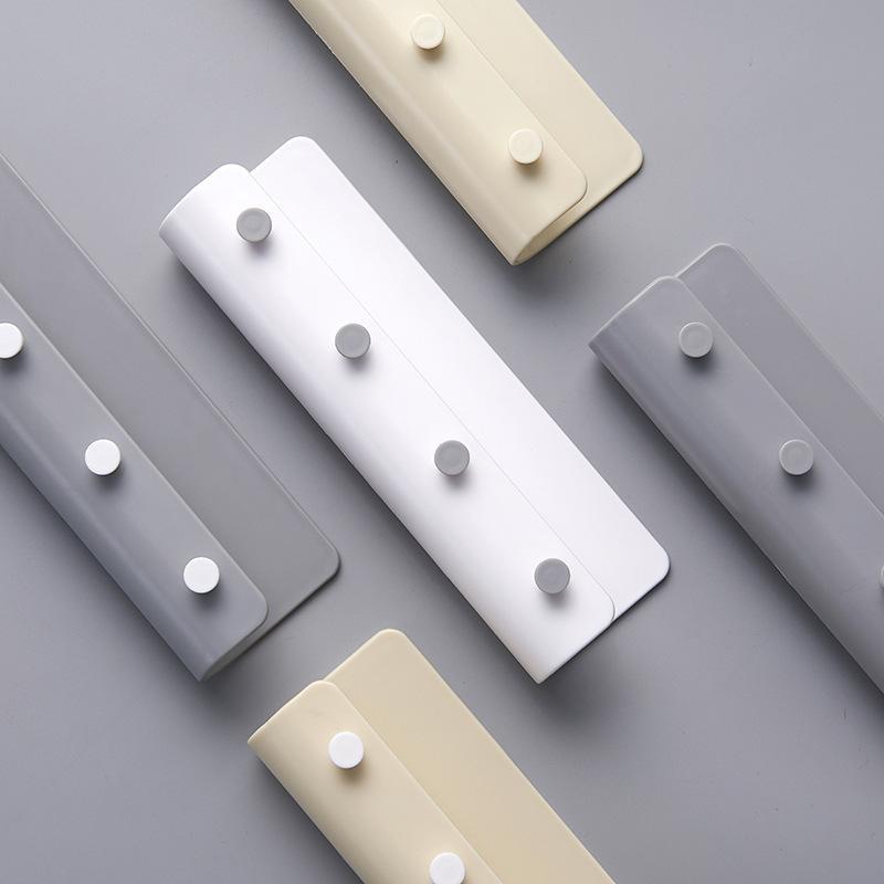Ceket Cap Anahtar Raf Plastik Hiçbir Sondaj Tel Raf Ev Vestibule Özgünlük Kanca Çeşitli Renkli 4 4zh J1 ile Sıcak Satış