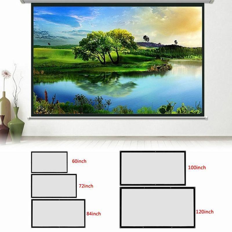 Projektionsbildschirme 120 Zinch-60inch 3D-HD-Wandmontage-Bildschirm-Leinwand-LED-Projektor für Heimkino-Screen1
