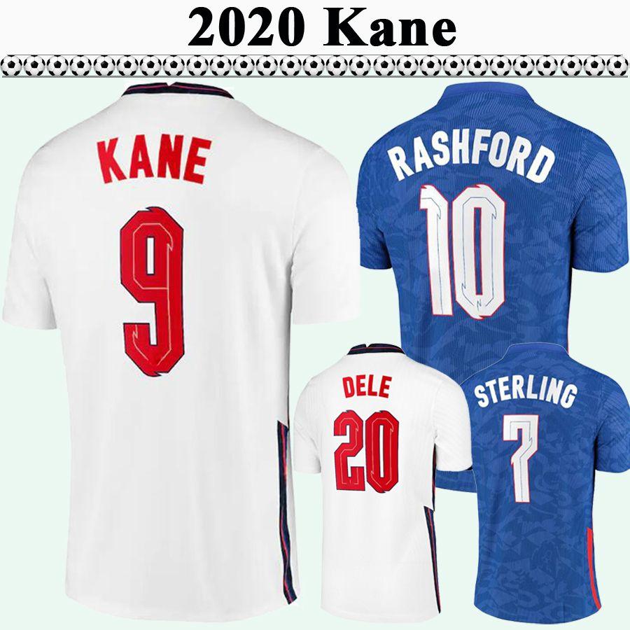 2020 Kane Rashford Mens Soccer Jerseys Sterling Gomez Maddison Trippier Rose Rose Home Chemise de football En tant qu'uniformes à manches courtes