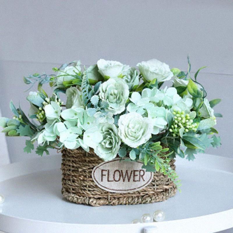 Jefes manera mini seda artificiales de Rose de flores para la fiesta de la boda decoración del hogar DIY Accesorios falso Flores Craft 9912 #