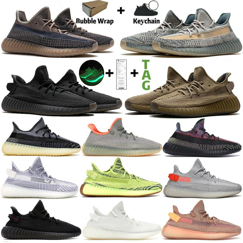 Kanye West Fade Israfil Sand Taupe mens sports Running Shoes carbon earth cinder black static reflective Zebra V2 women Trainers Sneakers