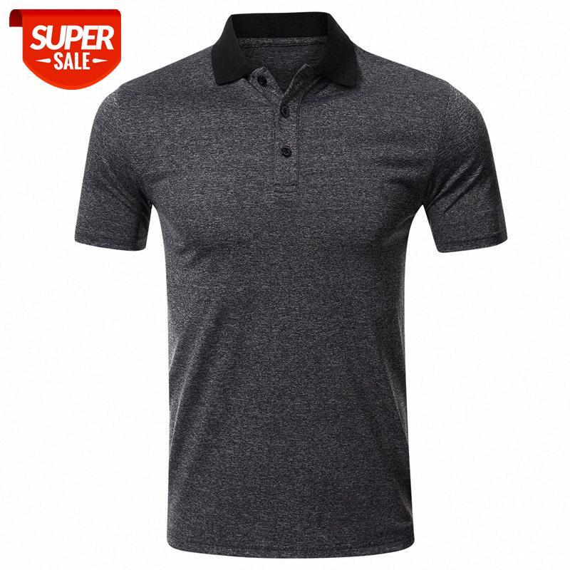 Top Verkauf von Produkt in 2020 Neue Mode Mann T-shirt Kurzarm Revers Feste Farbe Übergroßes T-Shirt Herrenbekleidung # YJ1F