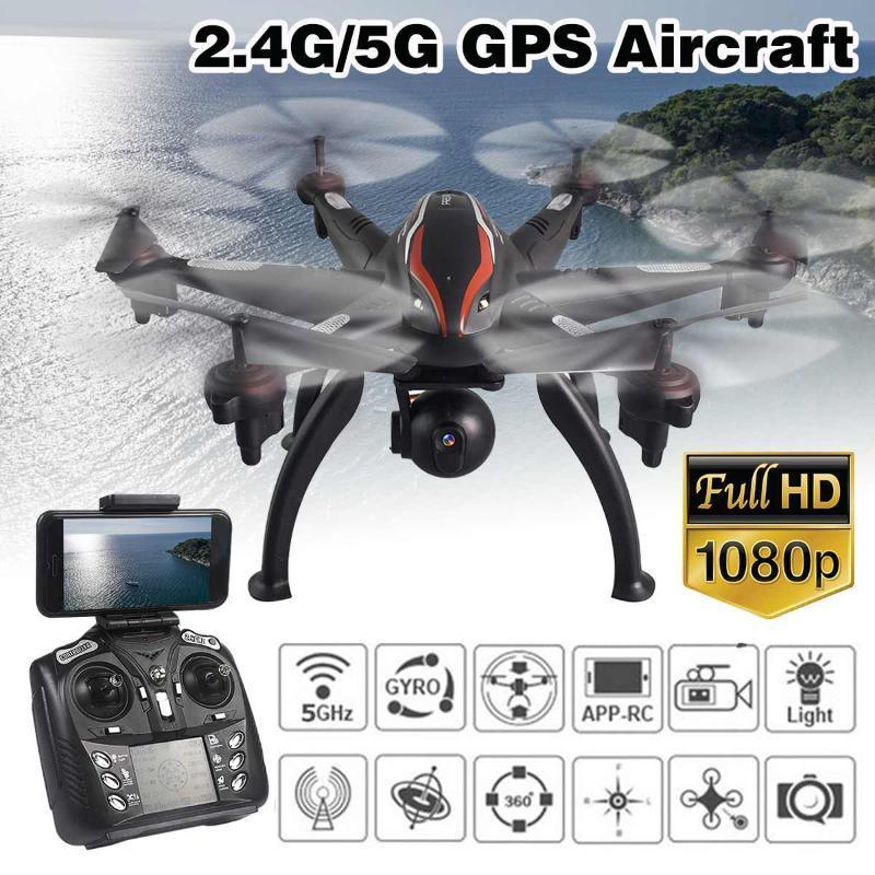 2.4G / 5G L100 6 محور مزدوج GPS بدون طيار 4 قنوات HD كاميرا واي فاي التحكم في الطائرة بدون طيار مع زاوية واسعة HD كاميرا hight