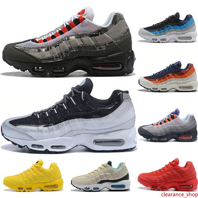 2020 zapatos corrientes de los hombres de calidad superior ULTRA Lo que los OG uva neón TT Negro Rojo 95s para hombre Formadores Triple s deportes blanco zapatillas de deporte