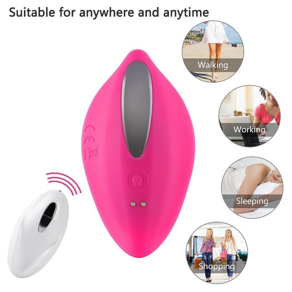 Neuer beweglicher Clitoral vibrierenden Ei Sex -Toys Stimulator Invisible Quiet Panty Vibrator drahtlose Fernbedienung für Frauen