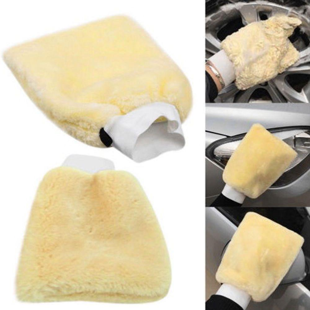 Großhandel 18 cm * 26cm Mikrofaser-Plüschauto-Waschhandschuh-Automobil-Detaillierung Weichwasch-Handschuh-Handschuh-Reinigungswerkzeuge DHL-Ups Freies Verschiffen
