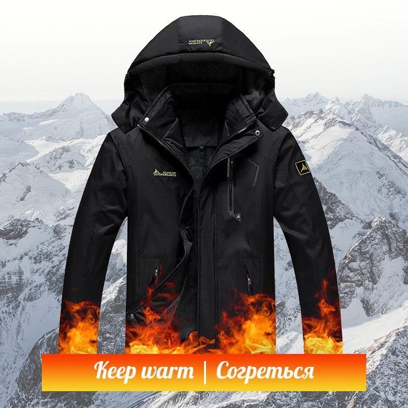 Mulheres Mulheres Quentes Inverno Fleece Windproof Jackets impermeável Pesca Caminhada Escalada Ski Quente Softshell Exterior Parka1