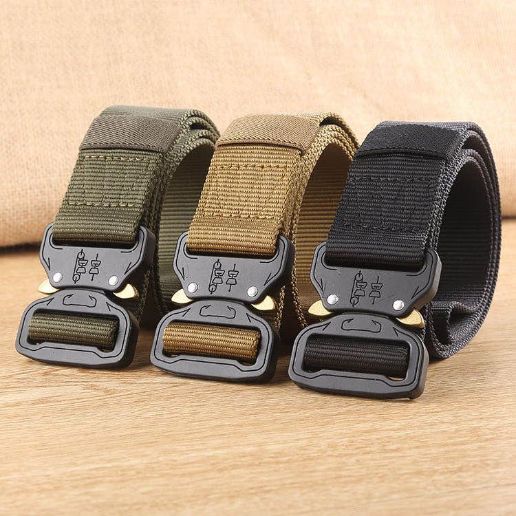Tactical Belt Molle New Nylon Belt Men Army SWAT Combat Belts Knock Off Survival Waist Tactical Gear Dropshipping