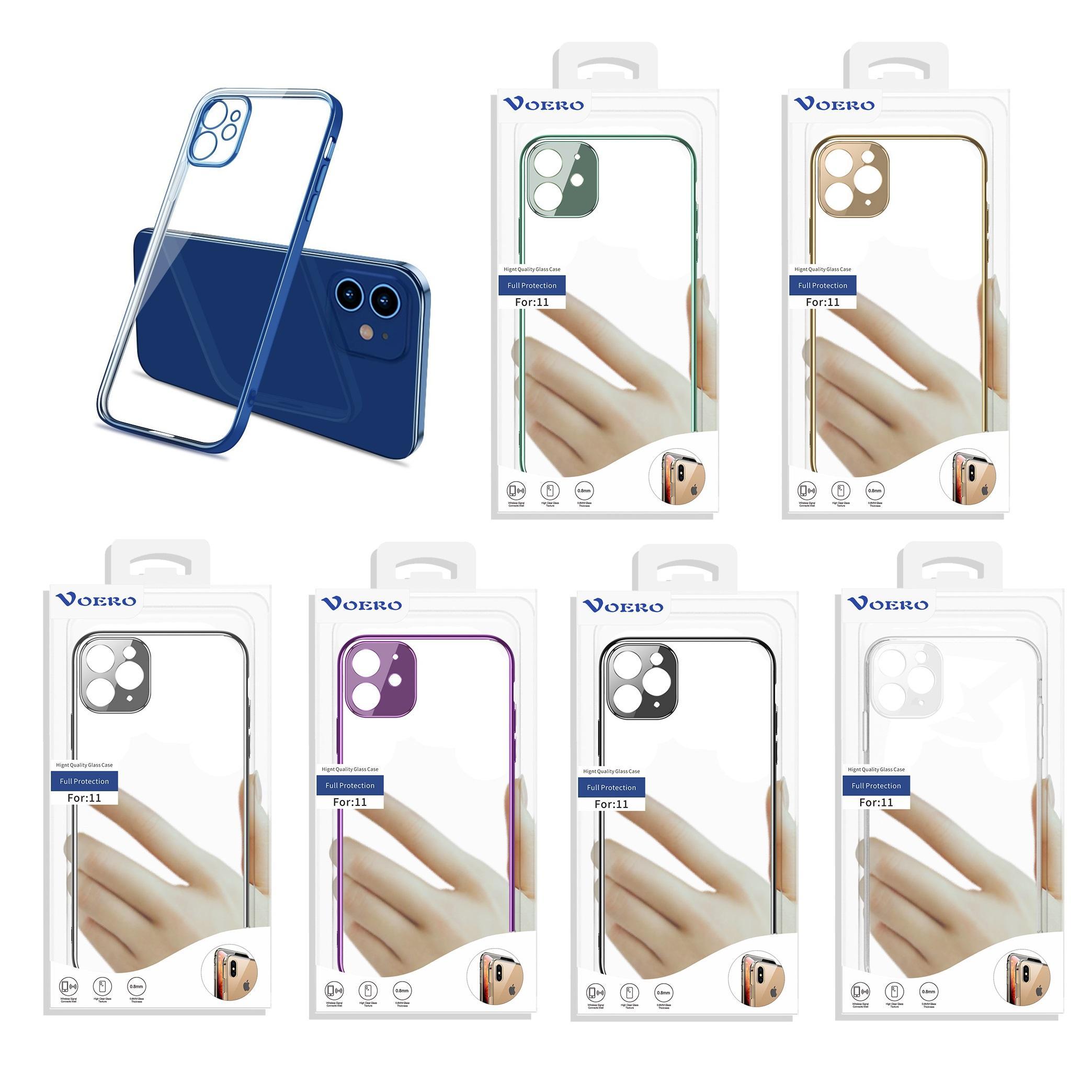 2021 Caso de Telefone Móvel Transparente Capa Protetora do TPU Anti-Queda Caixa Protetora para iPhone 12, 11, Pro e Mais Modelo