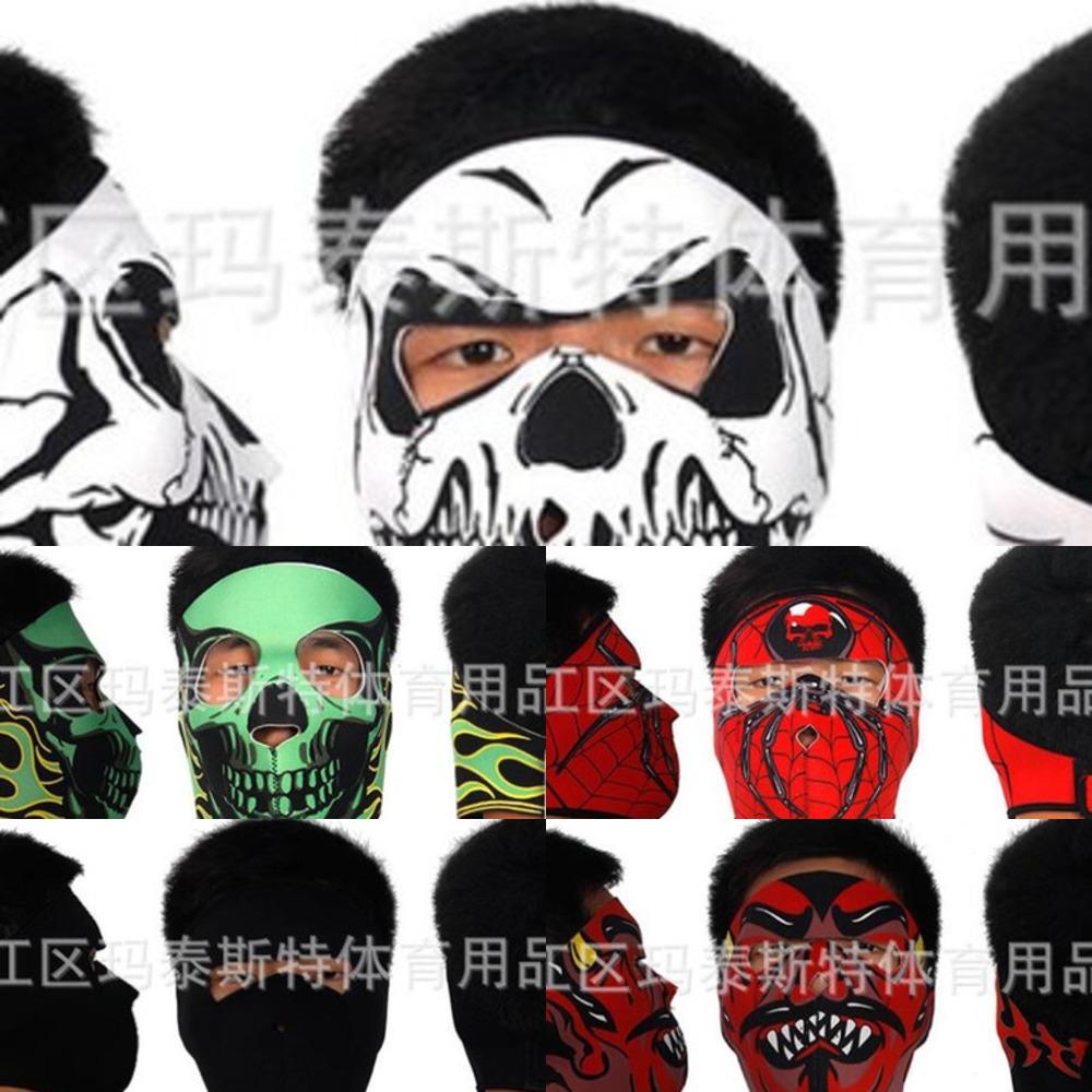 Ski 19 Arten Maske Outdoor Riding Facemask Masken CS Schädel Masque Warme und Winddichte Mode Gesichtsmasken Wiederverwendbar X1