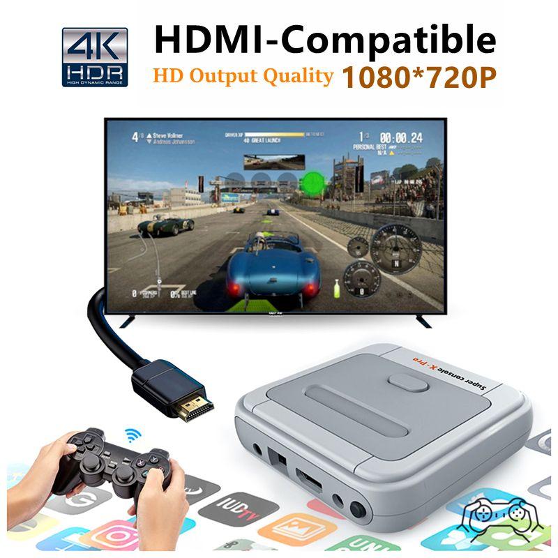 Soporte Arcade PSP NEC AMLOGIC S905X WIFI 4K HD Super Console X Pro 50+ Emulator 50000+ Juegos Retro Mini TV Box Player