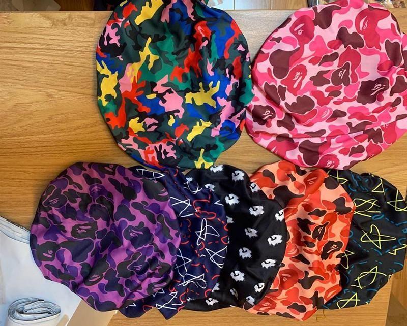 2021 Uyku Gece Bonnet Cap Durag Müslüman Caps 60 + Stil Kadınlar Streç Uyku Türban Şapka Ipeksi Bonnet Kemo Beanies Caps Kanser Şapkalar