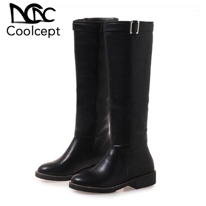 Ботинки Creamcept 2021 Женщина Высокое Качество Зимнее Меховое колено Ежедневная мода Черные сексуальные длинные клинья Обувь Размер 34-421