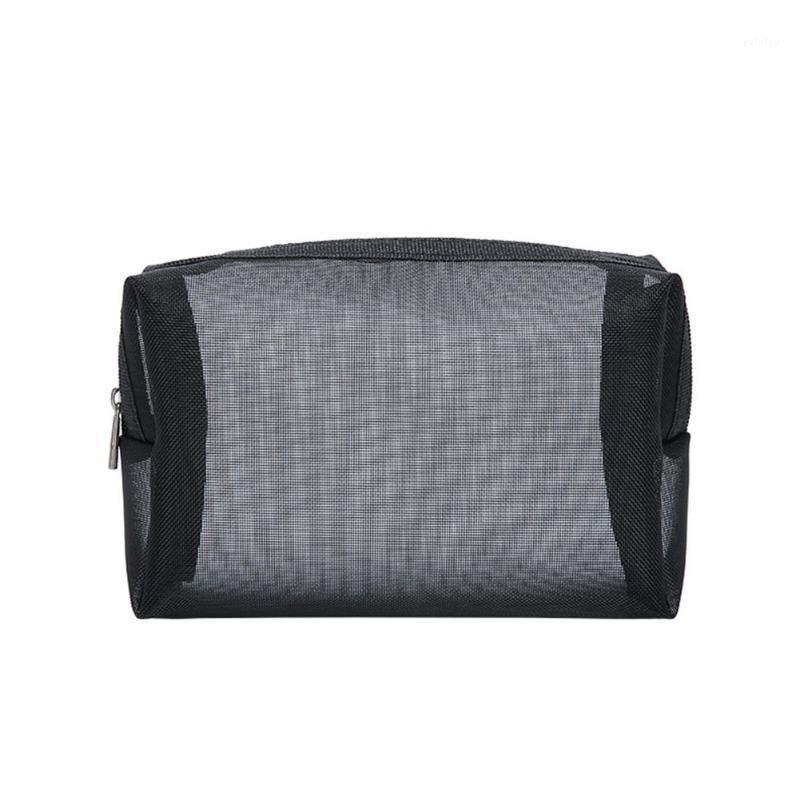 Toiletry Wash Pouch Portable Mesh Multifunction Organizer Women Makeup Bag Transparent Zipper Large Capacity Travel Storage1