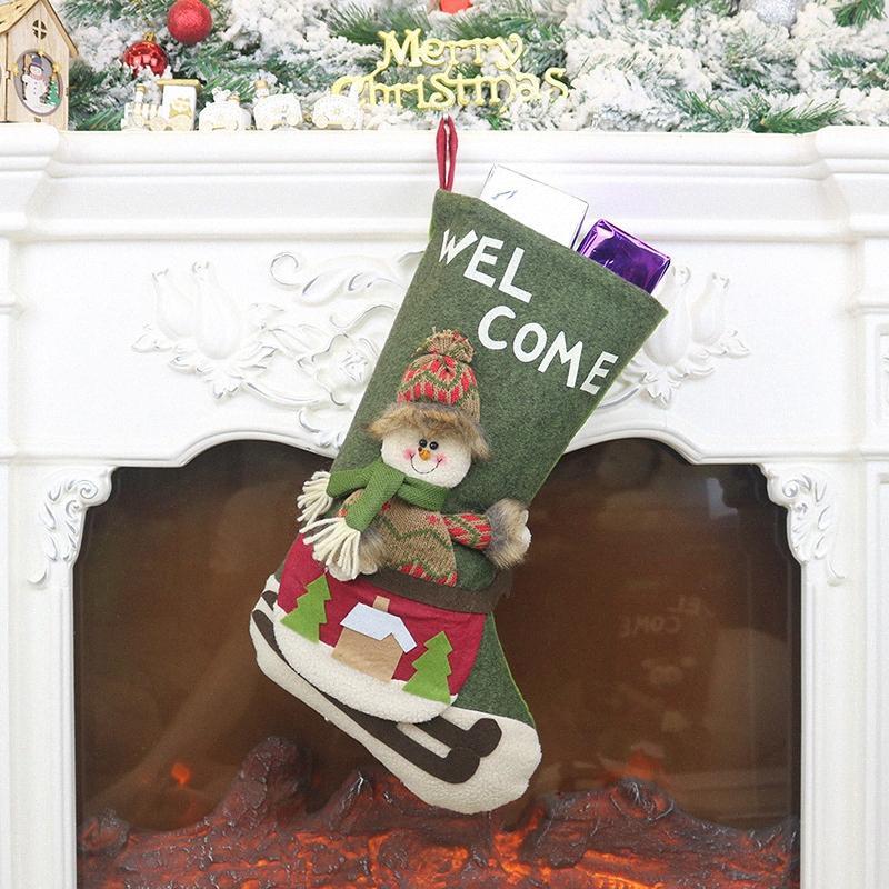 Ağaç Moda Ev Dekorasyon 45,5 Cm Yükseklik zyr5 # Asma Hediye Şeker Bag Asma Noel Çorap İçin