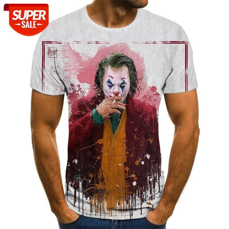 Новый фильм Клоун 3D Печать Футболка Горячие Продажи Случайные смешные Джеки Мужчины и Женщины Короткие Руканые Хип-Хоп Хараджуку Уличная одежда T-SHIR # 1L9i