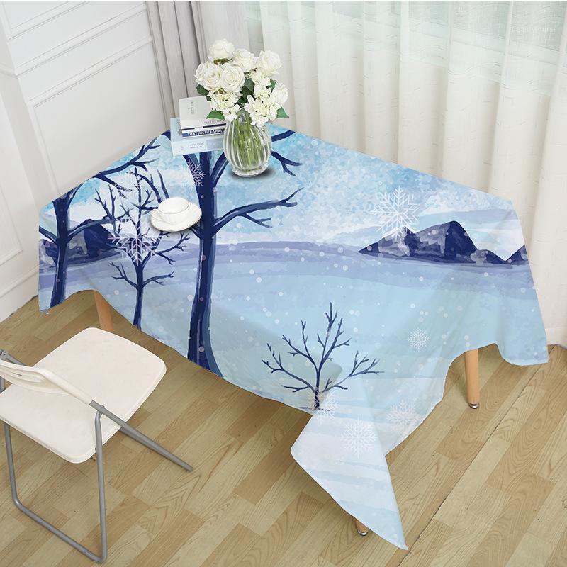 Tavolo decorativo tavola rettangolare partito banchetto tovaglia all'aperto tovaglia per la casa decorazione della casa natale neve vacanza modello MZ00051