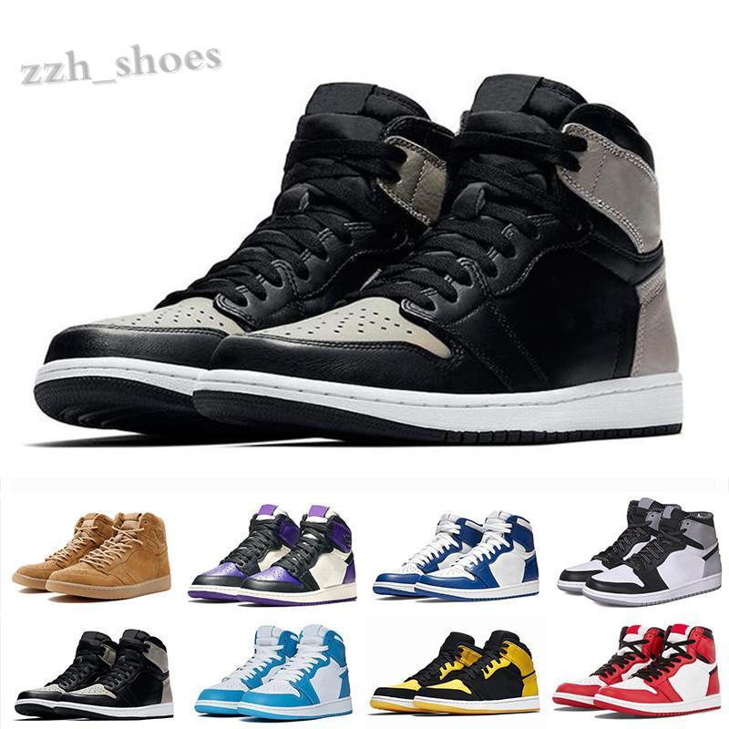 NIKE air Jordan 1 RETRO Erkekler 1 1 S Jumpman Basketbal Ayakkabı Top 3 UNC BD Parçası Siyah Ayak Altın Toe Kraliyet Spor Salonu Kırmızı Erkek Tasarımcı Ayakkabı US7-12 PR07