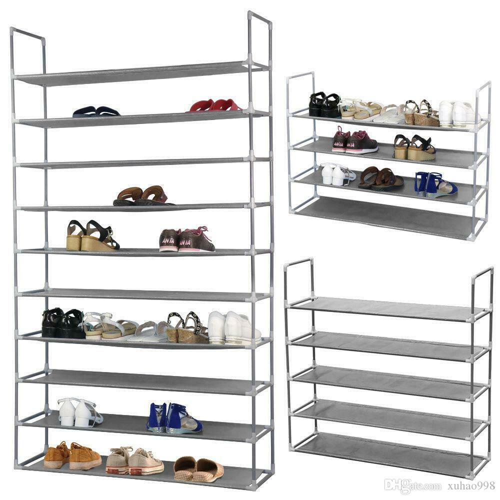 10 paires 50 paires de tissus non tissés de chaussures de chaussures réglable organisateur stockage stockage