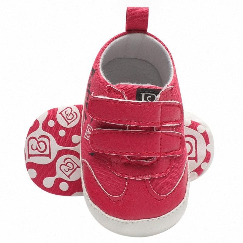 Bébé fille Chaussures Mode enfants Chaussures enfant en bas âge lettres cuir PU Nouveau-né Le premier Walker FUxj #