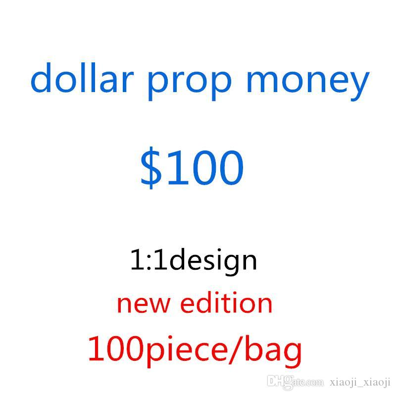 Größe 100 Geschenk Banknote USD Prop Spiel Geld Film Normal Dollar Banknote Taschen-F12 Kinder Fake Geld Geld Spielzeug Kreativ itcdh