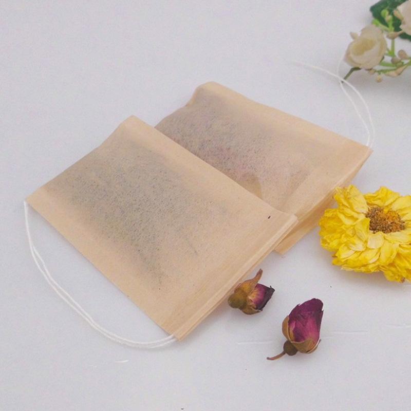 Деревянная целлюлозка фильтровальная бумага одноразовые фильтры чая фильтры сумка эко одноразовый заживленный уплотнение кофе чайные пакеты 6 * 8см не отбеливатель