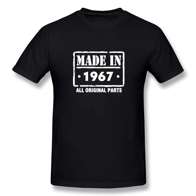 lo sport Made in 1967 MAGLIETTA Nuovo divertente maniche corte degli uomini di Hip Hop oversize O-Collo Cotone T