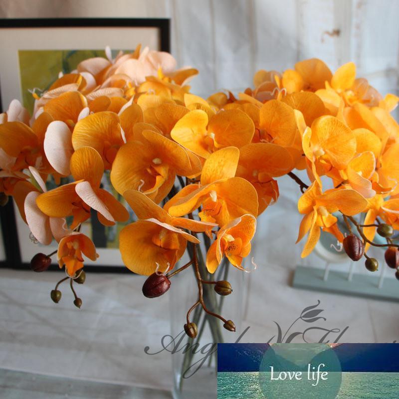 새 집 홈 웨딩 축제 장식을위한 8PCS / 부지 인공 꽃 리얼 터치 인공 나방 오키드 버터 플라이 오키드