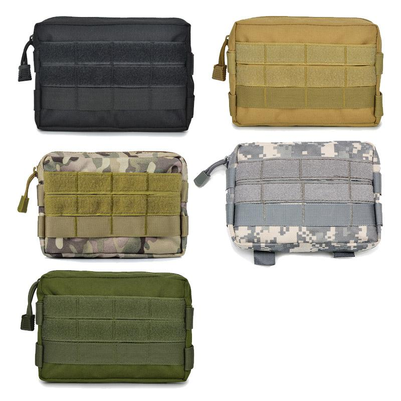 Открытый спортивный Airsoft Gear Molle Assault Combat Hiking Bag Asocious Camouflage Pack Tactical Kit Pouch No11-709