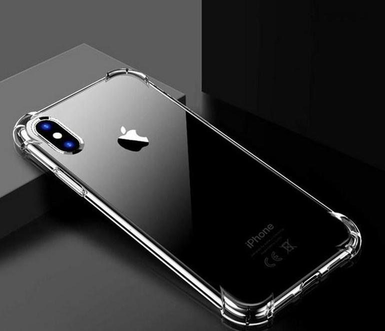 Clear Case Telefone TPU para iPhone 11 Pro Max 1.5mm à prova de choque XR XS 8 7 SQCWTQ BDefashion