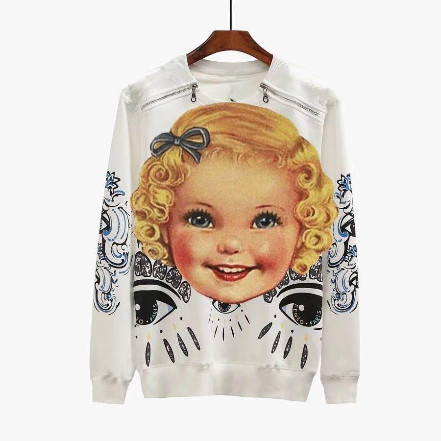 2020 neueste langarmentwurf, retro tier stickerei design mode t-shirt, komfortables und atmungsaktives Baumwollstoff, frei von Porto ,,,,