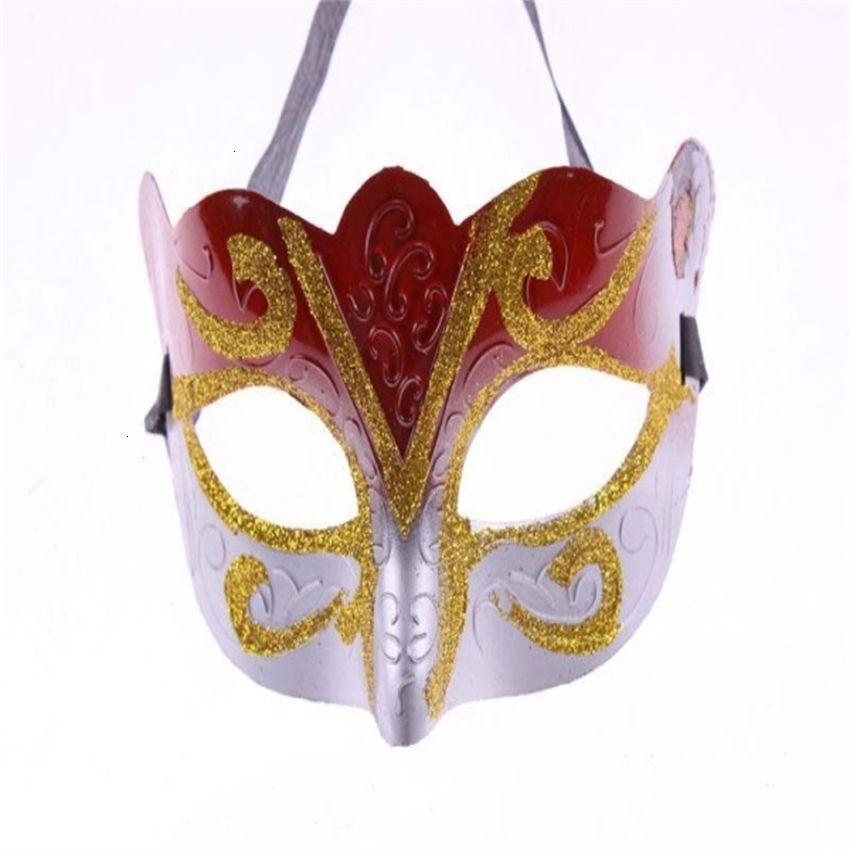Promoção vendendo máscaras masquerade com máscara de ouro unisex máscara máscara festa sparkle mardi máscara venetian glitter venetp8fu