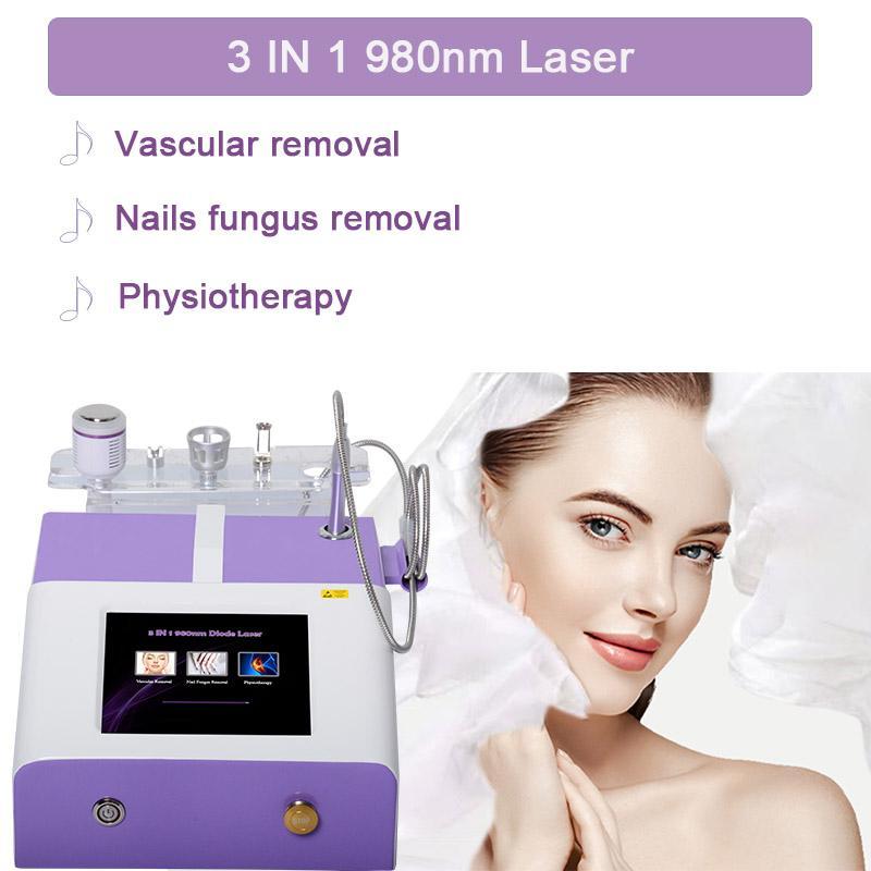 pele do laser 980 diodo laser máquina vascular remoção da veia vascular 980nm aranha veias máquina rejuvenescimento CE