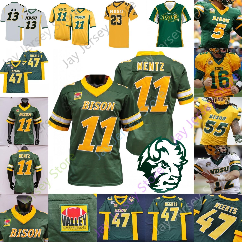 NDSU North Dakota State Bison Football Jersey NCAA College Carson Wentz Trey Lance Ty Brooks Adam Cofield Christian Watson Sproles Tuszka